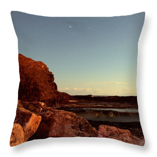 Beaches Throw Pillow featuring the photograph Other World This World by Rebecca Akporiaye