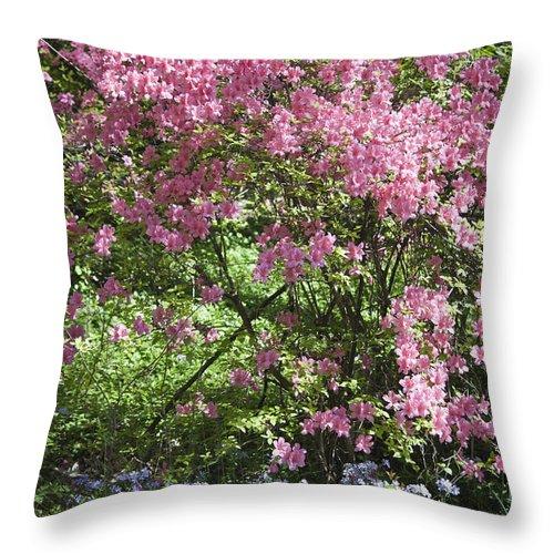 Azalea Throw Pillow featuring the photograph Overgrown Natural Beauty by Teresa Mucha