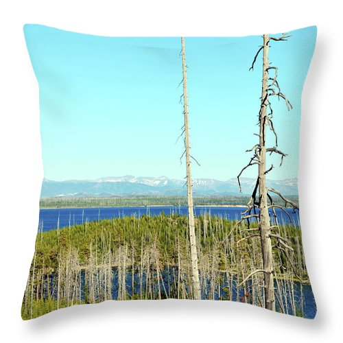 Nature Throw Pillow featuring the photograph Overlooking The West by La Dolce Vita
