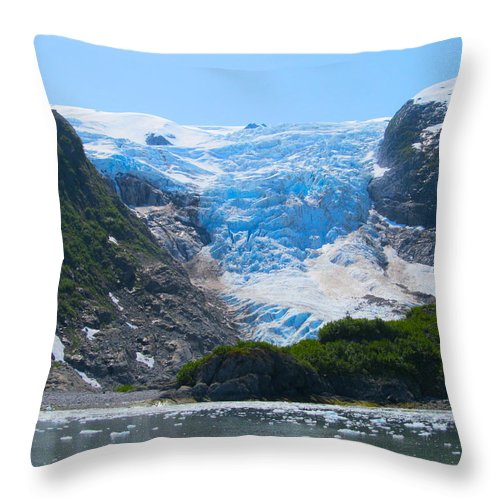 Alaska Throw Pillow featuring the photograph Oxygen Overtones by Michael Anthony