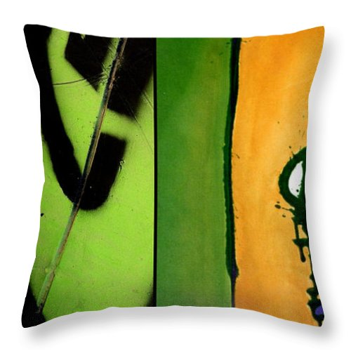 Marlene Burns Throw Pillow featuring the painting p HOTography 51 by Marlene Burns