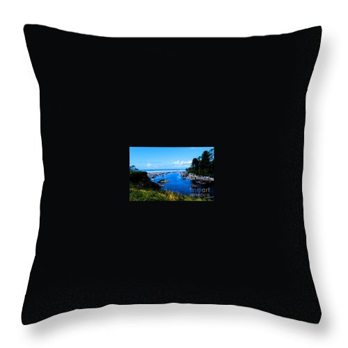 Pacific Seascape Throw Pillow featuring the photograph Pacific Escape by Tap On Photo