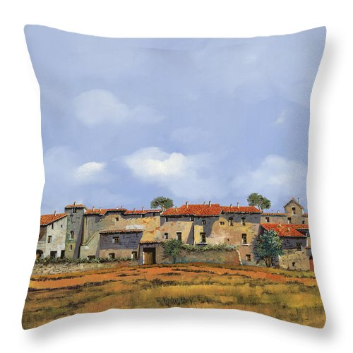 Italy Throw Pillow featuring the painting Paesaggio Aperto by Guido Borelli