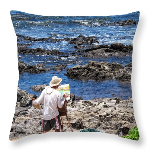 Painter Throw Pillow featuring the photograph Painter 1 by Dawn Eshelman