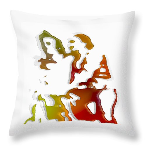 Colorful Throw Pillow featuring the digital art Pair by Efrat Fass