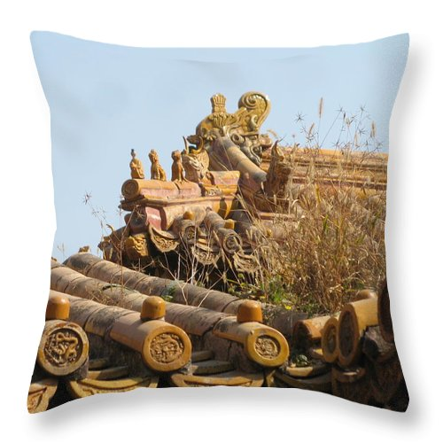 Roof Throw Pillow featuring the photograph Palace Roof by Alfred Ng