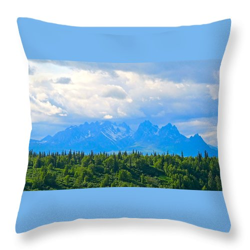 Alaska Throw Pillow featuring the photograph Palatial Castle by Michael Anthony
