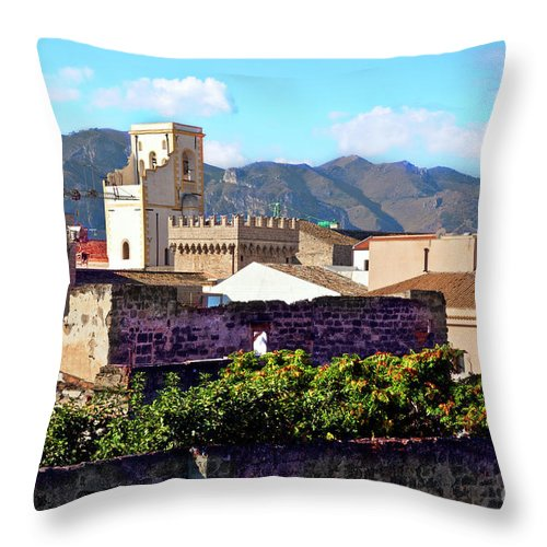 Palermo Throw Pillow featuring the photograph Palermo View by Madeline Ellis