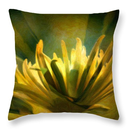 Dahlia Throw Pillow featuring the photograph Palm Sunday by Trish Tritz