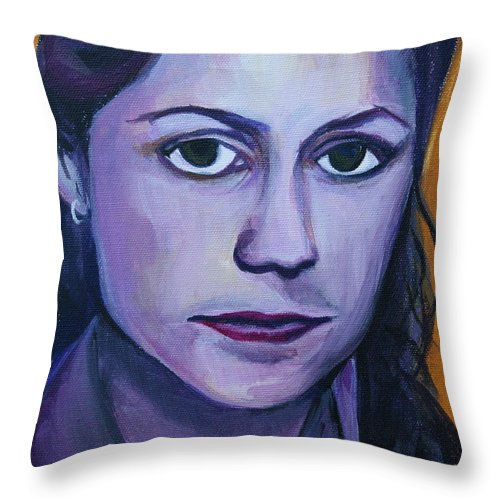 Pam Throw Pillow featuring the painting Pam by Kate Fortin