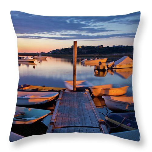 Barnstable County Throw Pillow featuring the photograph Pamet Harbor by Susan Cole Kelly