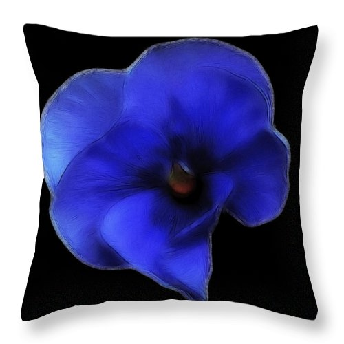 Pansy Throw Pillow featuring the photograph Pansy by Lynn Bolt