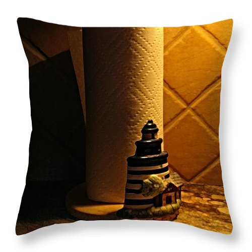 Paper Towel Holder Throw Pillow featuring the digital art Paper Towel Holder by Dale  Ford