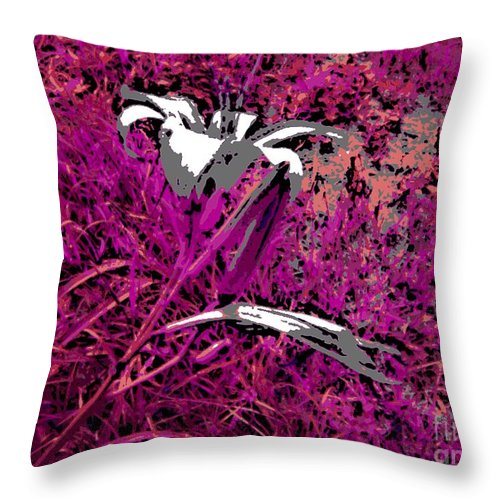 Flower Throw Pillow featuring the photograph Paradise by George Pedro