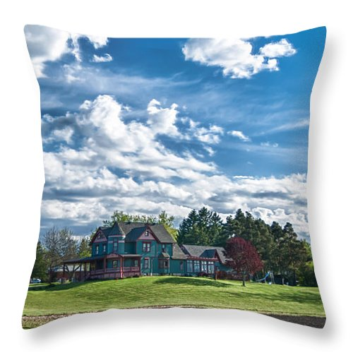 Clouds Throw Pillow featuring the photograph Paradise by Guy Whiteley