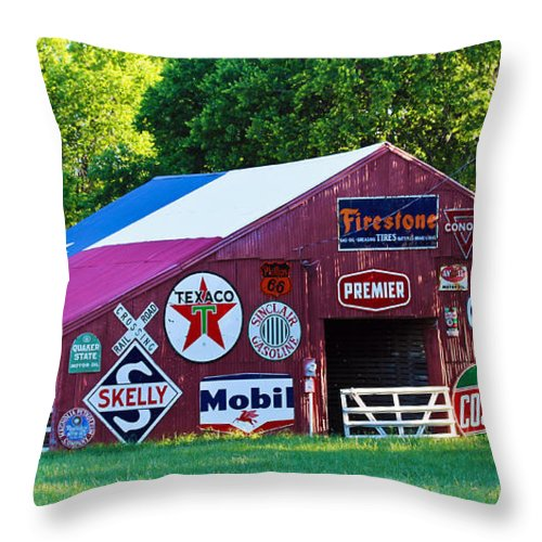 Texas Throw Pillow featuring the photograph Paraphernalia by Elizabeth Hart