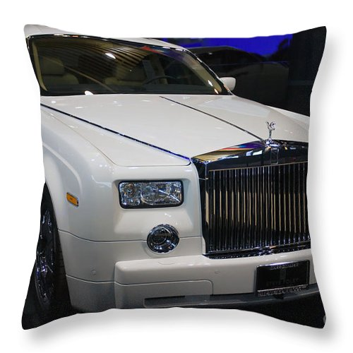 Automotive Throw Pillow featuring the photograph Pardon Me Sir by Alan Look