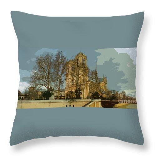 Paris Throw Pillow featuring the photograph Paris 03 by Yuriy Shevchuk