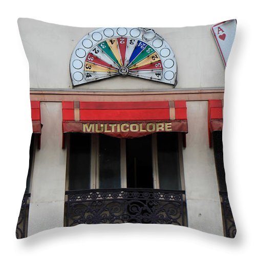 Paris Throw Pillow featuring the photograph Paris Casino by Andrew Fare
