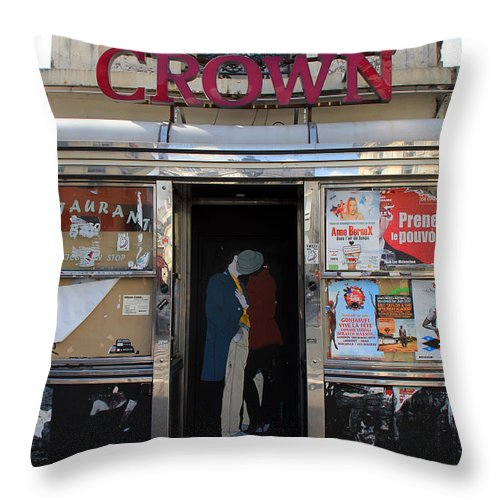 Paris Throw Pillow featuring the photograph Paris Diner by Andrew Fare
