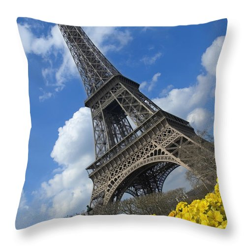 Blue Throw Pillow featuring the photograph Paris, France by Axiom Photographic