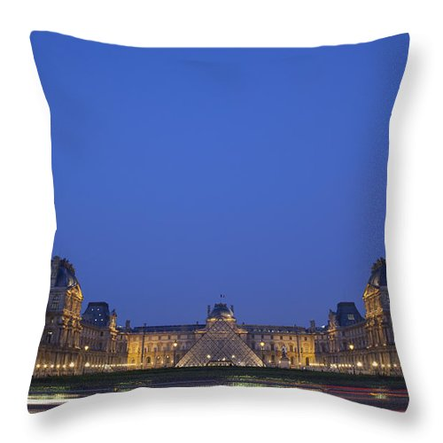 Architecture Throw Pillow featuring the photograph Paris, France, Europe by Axiom Photographic