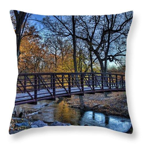Bridge Throw Pillow featuring the photograph Park Bridge by Scott Wood