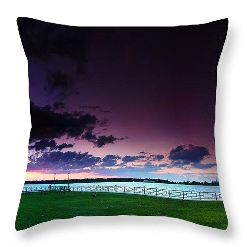 Windsor Throw Pillow featuring the photograph Park Pano by Cale Best
