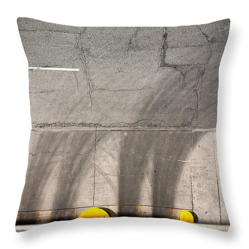 Parking Throw Pillow featuring the photograph Parking Garage by Cale Best