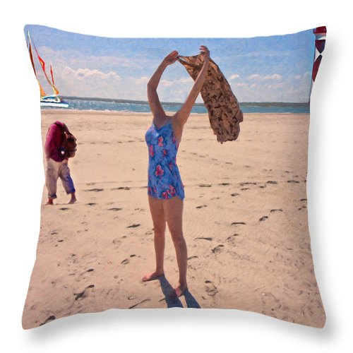 People Throw Pillow featuring the photograph Part I  by Betsy Knapp