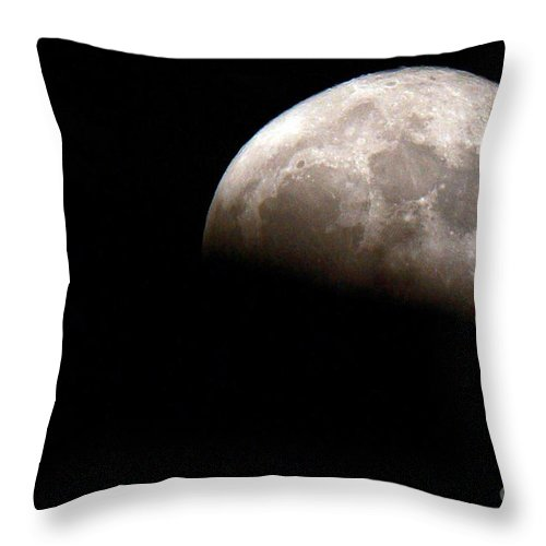 Apollo Throw Pillow featuring the photograph Partial Lunacy by Alan Look