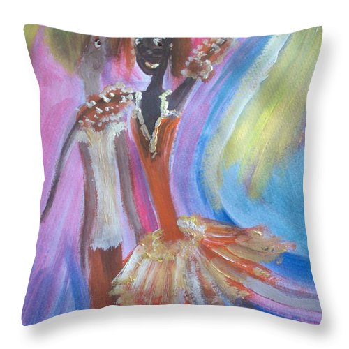 Ballet Throw Pillow featuring the painting Passion Ballet by Judith Desrosiers