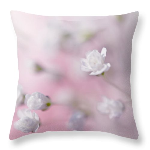 Jenny Rainbow Fine Art Photography Throw Pillow featuring the photograph Passion For Flowers. White Pearls by Jenny Rainbow