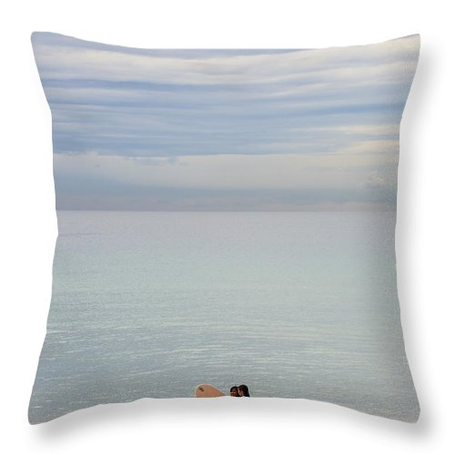 Pastel Throw Pillow featuring the photograph Pastel Manly morning by Sheila Smart Fine Art Photography