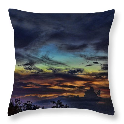Pastel Throw Pillow featuring the photograph Pastel Sky by Douglas Barnard