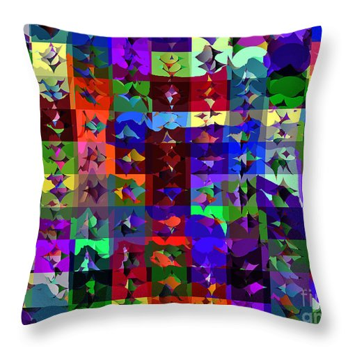 Ebsq Throw Pillow featuring the digital art Patchwork Quilt by Dee Flouton