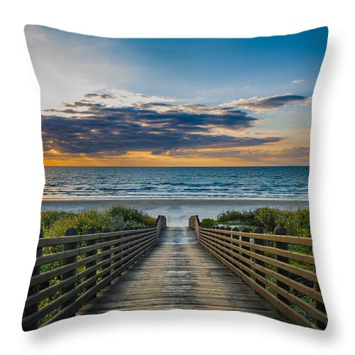 Beach Throw Pillow featuring the photograph Path Of Peace by Sean Wray