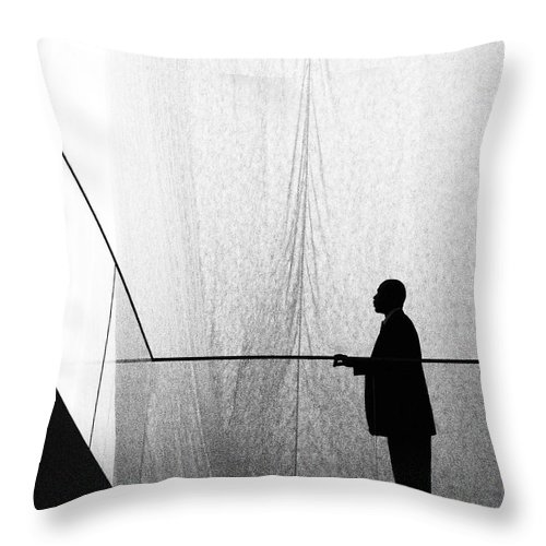 Patient Tension Throw Pillow featuring the photograph Patient Tension by Skip Hunt
