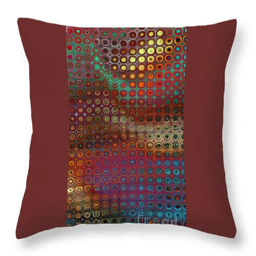 Fractal Throw Pillow featuring the digital art Pattern Study I Reflections by Richard Ortolano