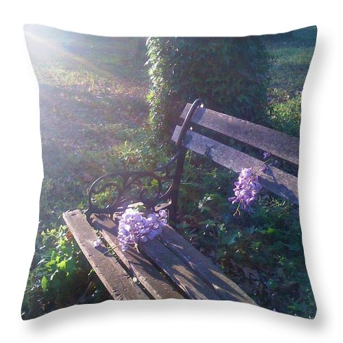 Flower Throw Pillow featuring the photograph Peace And Serenity by Amber Beach