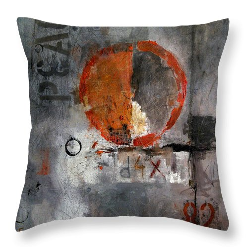 Oil Throw Pillow featuring the painting Peace by Mirel Emanuel Ologeanu