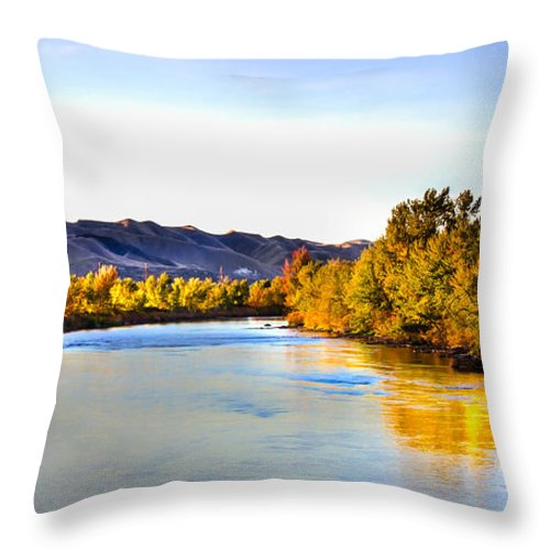Idaho Throw Pillow featuring the photograph Peaceful Morning by Robert Bales