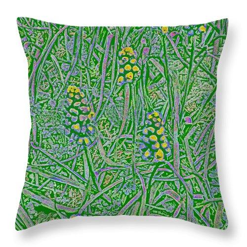 Grass Throw Pillow featuring the digital art Pearls In The Grass 1 by Tim Allen