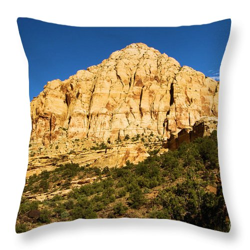 Capitol Reef National Park Throw Pillow featuring the photograph Pectol's Pyramid by Adam Jewell
