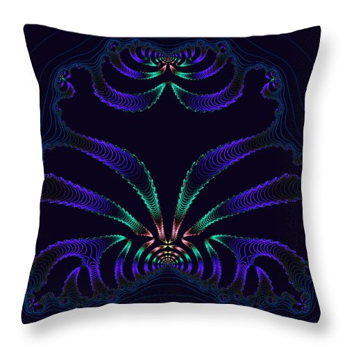 Xaos Throw Pillow featuring the photograph Persian Medallion by Mother Nature
