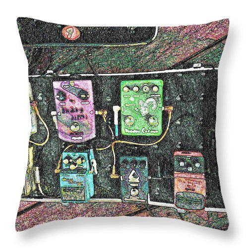 Music Throw Pillow featuring the photograph Petal Board by Chris Berry