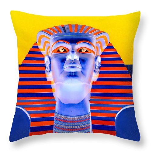 Pharoah Throw Pillow featuring the photograph Pharoah's Lost Kingdom 2 by Randall Weidner
