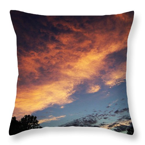 Clouds Throw Pillow featuring the photograph Phoenix In The Sky by Martha Abell
