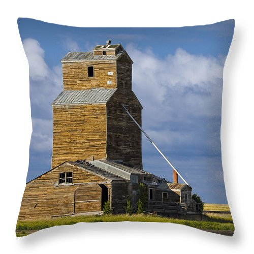Art Throw Pillow featuring the photograph Photograph Of A Prairie Barn by Randall Nyhof