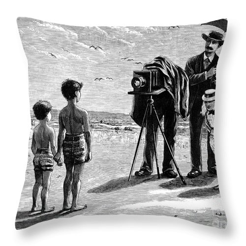 1877 Throw Pillow featuring the photograph Photography, 1877 by Granger